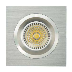 Lathe Aluminum GU10 MR16 Square Fixed Recessed LED Spotlight (LT2109) pictures & photos