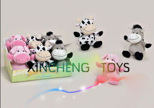 2014 New Hot Sale Plush Animal Toy in Gift Box, Plush Donkey, Cow, Pig Toys