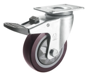 Medium Duty PVC Wheel Caster (Red) (Y3601) pictures & photos