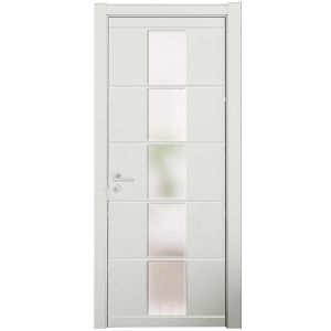 china modern white lacquer middle glass bedroom wood door china door