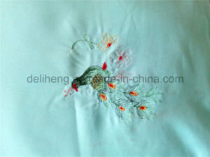 3PCS 100% Microfiber Polyester Plain Dyed Embroidered Bedsheets pictures & photos