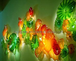 Multicolour Murano Glass Craft Plate for Wall Decoration
