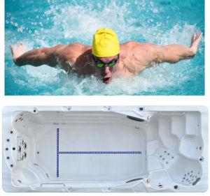 Fashion Swim SPA Mini Fiberglass Swimming Pool pictures & photos
