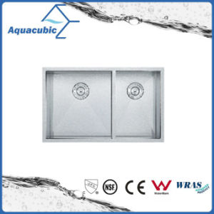 China Hot Sale Stainless Steel Man-Made Kitchen Sink (ACS3119A2) pictures & photos