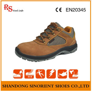 Nubuck Leather Steel Toe Deltaplus Safety Shoes pictures & photos