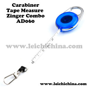 Fishing Tackle Wholesale Carabiner Tape Measure Zinger Combo pictures & photos