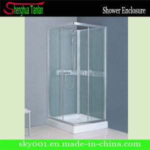 Low Tray Square Sliding Glass Simple Shower Cabinet (TL-501) pictures & photos