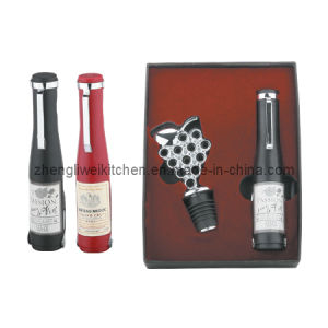 Bottle Shaped Wine Set with Two Functions (600719-D) pictures & photos