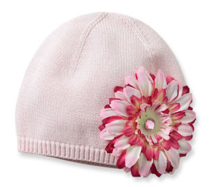 Fashion Acrylic Knitting Knitted Hat with Artificialflower pictures & photos