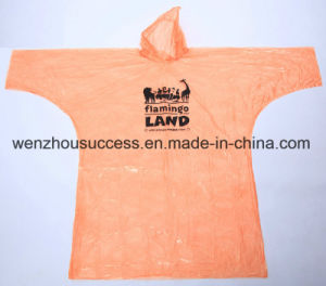 Cheap Disposable PE Rain Poncho pictures & photos