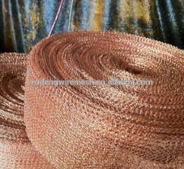 Copper Knitted Wire Mesh for Making Mesh Scourer and Scrubber Ball pictures & photos
