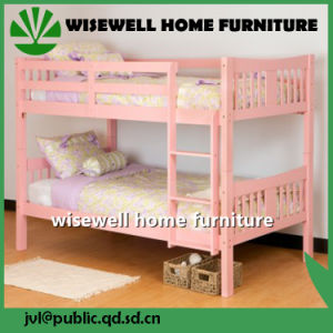 Pine Wood Bunk Bed in Dormitory Bed pictures & photos
