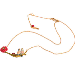 Luxe Romantic Flowers Necklace for Women Lovebird Cherry Blossoms Necklace Top Quality Party Jewelry for Ladies pictures & photos