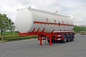 38000L SUS Liquid Tank Semi-Trailer for Chemical Fluid Delivery (HZZ9408GHY) pictures & photos