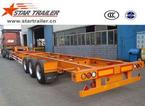 3 Axles Goose-Neck Skeleton Container Chassis Trailer pictures & photos