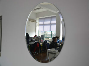 6mm Oval Clear Sliver Coated Bathroom Frame Mirror/Safety Mirror with Beveled Edges pictures & photos