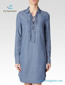 Super Soft Jeans Loose Relaxed Ladies Denim Dresses pictures & photos