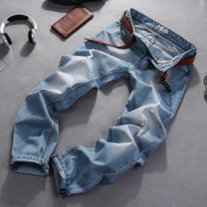 Fashion Men′s Denim Jeans Stock for Garment pictures & photos