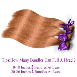 "Straight Hair Bundles Pure Color 30 Peruvian Hair 100% Human Hair Weave 10"" pictures & photos"