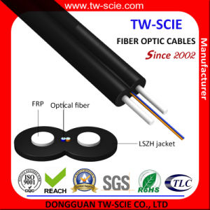 2 Core Indoor or Outdoor FTTH Drop Cable with Low Smoke Zero Halogen Sheath pictures & photos