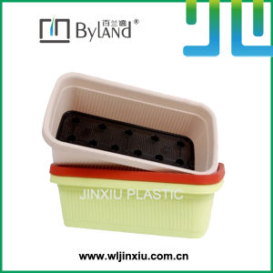 Rectangle Plastic Flower Planter Home Gardening PP Plant Pot Self-Watering Vegetable Planter