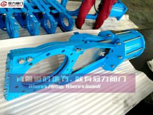 Slurry Knife Gate Valve with Double-Action Pneumatic Op. pictures & photos