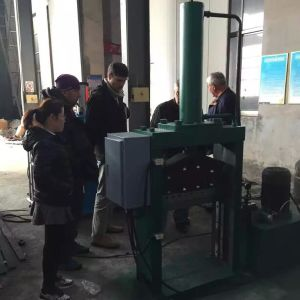 Hydraulic Pressure Rubber Bale Cutting Machine with Alloy Cutter pictures & photos