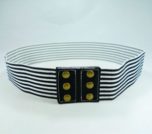 Stripe Women Elastic Waist Belt
