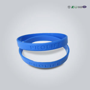 Custom Brand Logo Rubber Bracelet Silicone Wristband pictures & photos