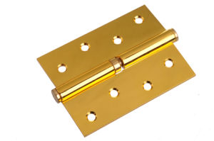 Competitive Polished Brass Plated Duty Hinge (SH-014) pictures & photos