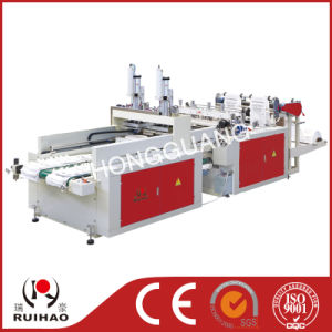 Two Line High Speed T-Shirt Bag Making Machine pictures & photos