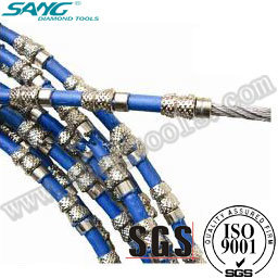 Wire Saw Cutting Granite, Diamond Wire Saw, Diamond Wire Rope pictures & photos