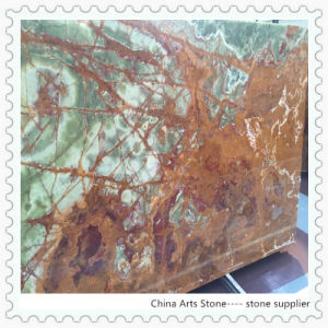 Antic Green Onxy Slab2 China Arts Stone pictures & photos
