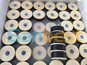 High Quality Cardboard Sided Black Pre-Wound Bobbins Thread pictures & photos