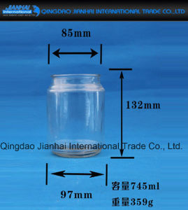 Round Transparent Candle Holder Glass Bottle for Decoration pictures & photos