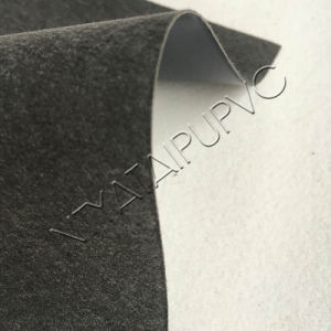 Anti-Mildew Elastic and Waterproof Microfiber Suede PVC Leather for Shoes pictures & photos