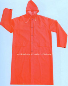 0.32mm Long PVC Raincoat for Women R9029 pictures & photos