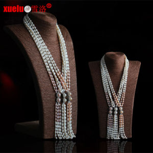 Fashion Long Natural Freshwater Pearl Necklace Jewelry Design pictures & photos