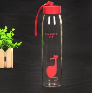 Colorful Creative Sport Bottle Portable Glass Bottle Gift Cup pictures & photos