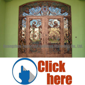 Safety Wrought Iron Main Single Entry Door Designs pictures & photos