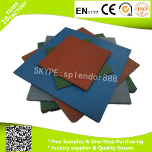 Commercialoutdoor Playground Safety Straight Edge Rubber Flooring Tiles pictures & photos
