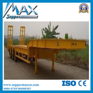 China Manufacturer 60-120tons Low Bed Trailer/Lowboy Truck Semi Trailer pictures & photos