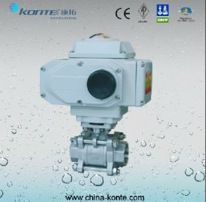 Electric Threaded 2PCS Ball Valve pictures & photos