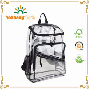 Custom Transparent Clear PVC Backpack with Extra Three Pockets pictures & photos