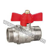 Nickel Plating Bouble Male Forged Brass Ball Valve pictures & photos