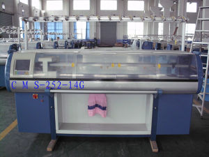 14 Gauge Double-System Knitting Machine with Comb Device pictures & photos