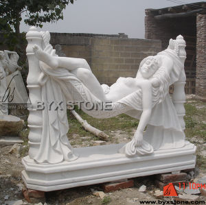 Natural White Marble Carving Lady Sculpture Statue for Decoration pictures & photos