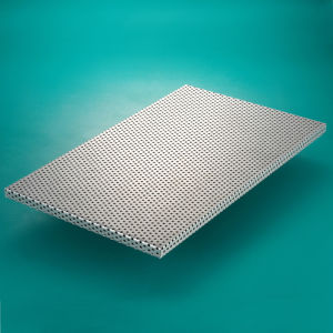 Aluminum honeycomb sandwich panels perforated