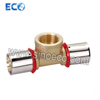 Reduced Tee Female Brass Fittings for Pex Al Pex Pipe pictures & photos