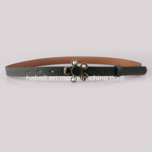 PU Leather Belts with Pearl and Diamond